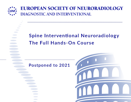 POSTPONED TO 2021 Spine Interventional Neuroradiology Course -  DATE TO BE CONFIRMED image