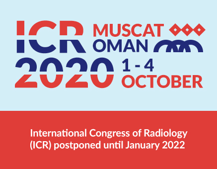 POSTPONED TO JANUARY 2022- 30th International Congress of Radiology - DATE TO BE CONFIRMED image
